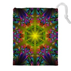 Fractal Abstract Background Pattern Drawstring Pouch (4xl) by Wegoenart
