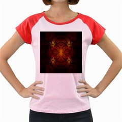 Fractal Art Abstract Pattern Women s Cap Sleeve T-shirt by Wegoenart