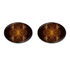 Fractal Art Abstract Pattern Cufflinks (oval) by Wegoenart