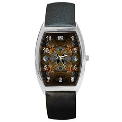 Fractal Art Abstract Pattern Barrel Style Metal Watch by Wegoenart