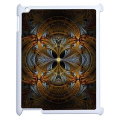 Fractal Art Abstract Pattern Apple Ipad 2 Case (white) by Wegoenart