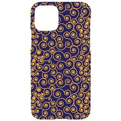 Spiral Pattern Texture Fractal Iphone 11 Pro Black Uv Print Case by Wegoenart