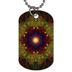 Art Abstract Fractal Pattern Dog Tag (two Sides) by Wegoenart
