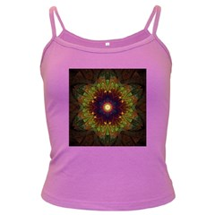 Art Abstract Fractal Pattern Dark Spaghetti Tank by Wegoenart