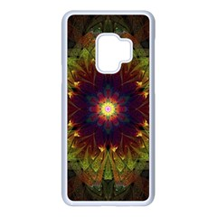 Art Abstract Fractal Pattern Samsung Galaxy S9 Seamless Case(white) by Wegoenart