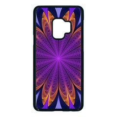 Art Abstract Fractal Pattern Samsung Galaxy S9 Seamless Case(black) by Wegoenart