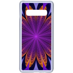 Art Abstract Fractal Pattern Samsung Galaxy S10 Plus Seamless Case(white) by Wegoenart