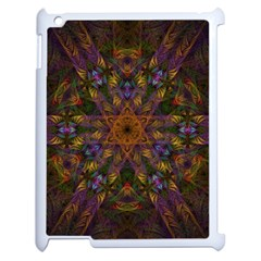 Fractal Abstract Background Pattern Apple Ipad 2 Case (white) by Wegoenart