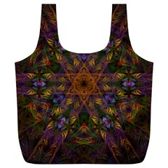 Fractal Abstract Background Pattern Full Print Recycle Bag (xl) by Wegoenart