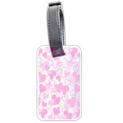 Valentine Background Hearts Bokeh Luggage Tag (two Sides)
