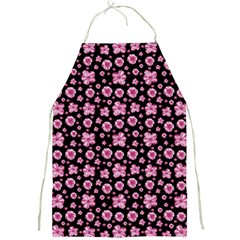 Pink And Black Floral Collage Print Full Print Apron by dflcprintsclothing
