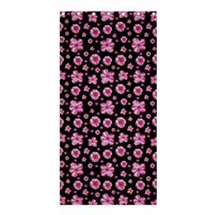 Pink And Black Floral Collage Print Shower Curtain 36  X 72  (stall)  by dflcprintsclothing