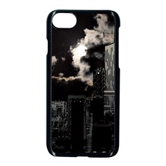 City Night Moon Skyline Skyscraper Iphone 8 Seamless Case (black) by Wegoenart