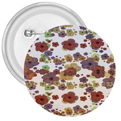 Multicolored Floral Collage Print 3  Buttons by dflcprintsclothing