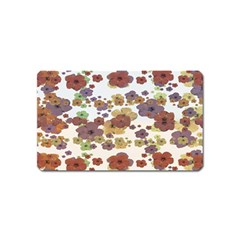 Multicolored Floral Collage Print Magnet (name Card) by dflcprintsclothing