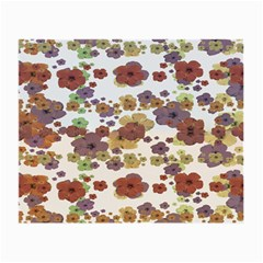 Multicolored Floral Collage Print Small Glasses Cloth (2 Sides) by dflcprintsclothing