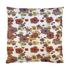 Multicolored Floral Collage Print Standard Cushion Case (one Side) by dflcprintsclothing