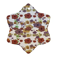 Multicolored Floral Collage Print Ornament (snowflake) by dflcprintsclothing