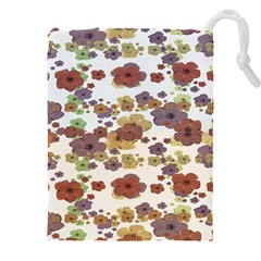 Multicolored Floral Collage Print Drawstring Pouch (4xl) by dflcprintsclothing