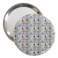 Background Dogs Patterns 3  Handbag Mirrors by Bejoart