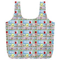 Background Dogs Patterns Full Print Recycle Bag (xxxl)