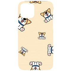 Cute Welsh Corgi Puppy Sitting Seamless Pattern Iphone 11 Pro Black Uv Print Case