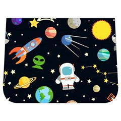 Space Astronomy Decorative Symbols Seamless Pattern Vector Illustration Buckle Messenger Bag
