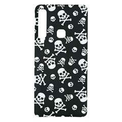 Skull Crossbones Seamless Pattern Holiday Halloween Wallpaper Wrapping Packing Backdrop Samsung Galaxy A9 Tpu Uv Case