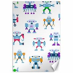 Cute Toy Robotsantennas Wires Seamless Pattern Canvas 24  X 36  by Nexatart