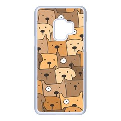 Cute Dog Seamless Pattern Background Samsung Galaxy S9 Seamless Case(white)