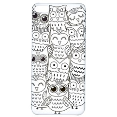 Circle Shape Pattern With Cute Owls Coloring Book Iphone 7/8 Plus Soft Bumper Uv Case