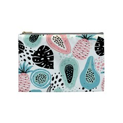 Seamless Pattern With Fruits Cosmetic Bag (medium) by Nexatart