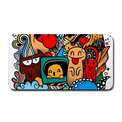 Abstract Grunge Urban Pattern With Monster Character Super Drawing Graffiti Style Medium Bar Mats