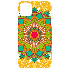 Mandala Patterns Yellow Iphone 11 Pro Max Black Uv Print Case