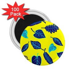 Leaves Pattern Picture Detail 2 25  Magnets (100 Pack)  by Nexatart