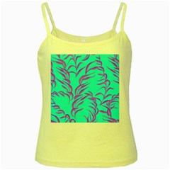 Branches Leaves Colors Summer Yellow Spaghetti Tank