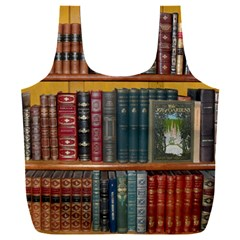 Books Library Bookshelf Bookshop Full Print Recycle Bag (xxl)