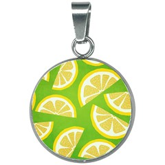 Lemon Fruit Healthy Fruits Food 20mm Round Necklace
