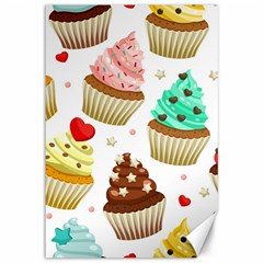 Seamless Pattern Yummy Colored Cupcakes Canvas 12  X 18  by Nexatart