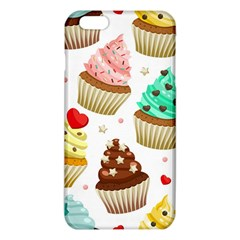 Seamless Pattern Yummy Colored Cupcakes Iphone 6 Plus/6s Plus Tpu Case by Nexatart