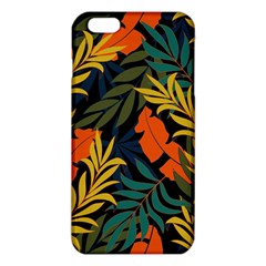 Fashionable Seamless Tropical Pattern With Bright Green Blue Plants Leaves Iphone 6 Plus/6s Plus Tpu Case by Nexatart