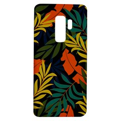 Fashionable Seamless Tropical Pattern With Bright Green Blue Plants Leaves Samsung Galaxy S9 Plus Tpu Uv Case
