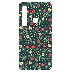 Flowering Branches Seamless Pattern Samsung A9 Black Uv Print Case