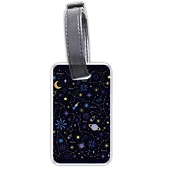 Starry Night  Space Constellations  Stars  Galaxy  Universe Graphic  Illustration Luggage Tag (two Sides)