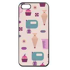 Seamless Bakery Vector Pattern Iphone 5 Seamless Case (black)