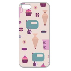 Seamless Bakery Vector Pattern Apple Seamless Iphone 5 Case (clear)
