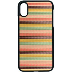 Vintage Stripes Lines Background Iphone Xs Seamless Case (black)