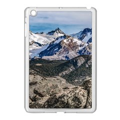 El Chalten Landcape Andes Patagonian Mountains, Agentina Apple Ipad Mini Case (white) by dflcprintsclothing