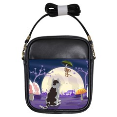 Cat Kitty Mouse Mice Escape Trick Girls Sling Bag by Bejoart