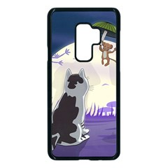 Cat Kitty Mouse Mice Escape Trick Samsung Galaxy S9 Plus Seamless Case(black)